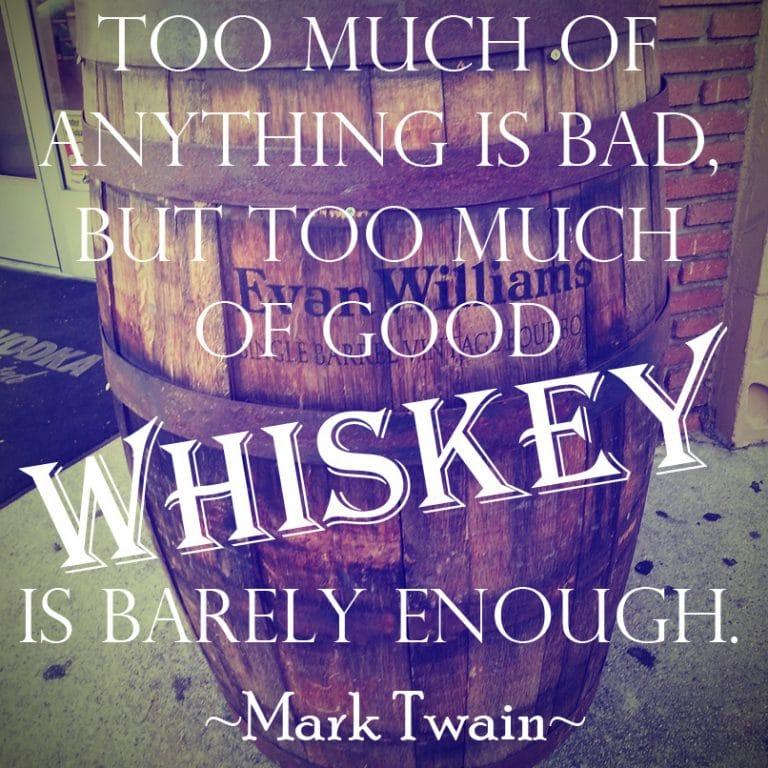 Mark Twain Whiskey Quote