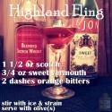 Prohibition Era Scotch Cocktail: Highland Fling