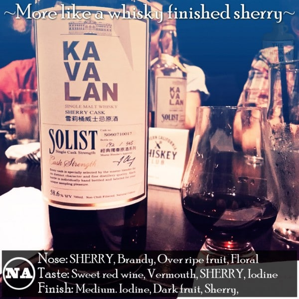Kavalan Single Malt Solist Sherry Cask Review