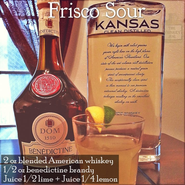 Frisco Sour Cocktail Recipe (with Kansas Clear Distilled)