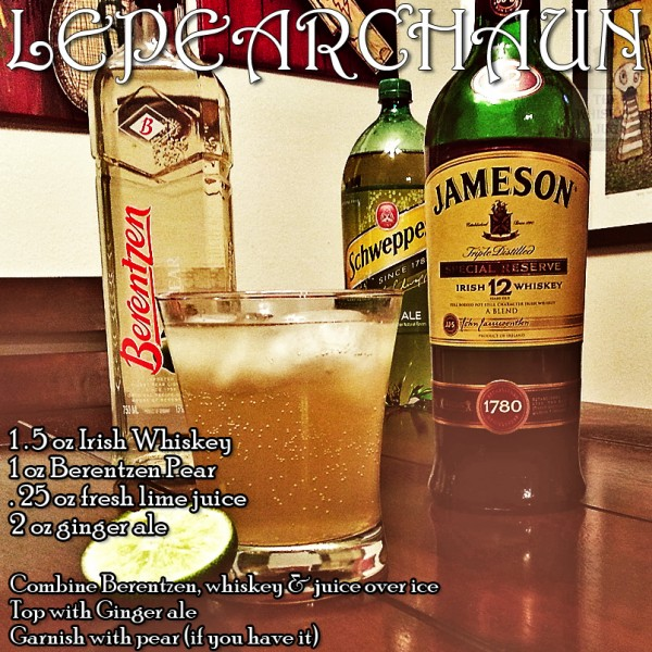 Lepearchaun Irish Whiskey Cocktail