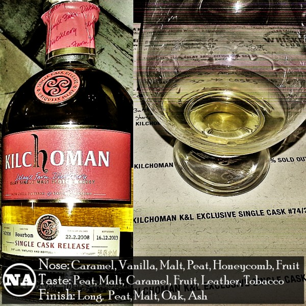 Kilchoman K and L Exclusive Single Cask 74 Review