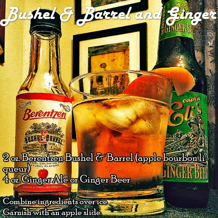 Bushel and Barrel and Ginger Cocktail