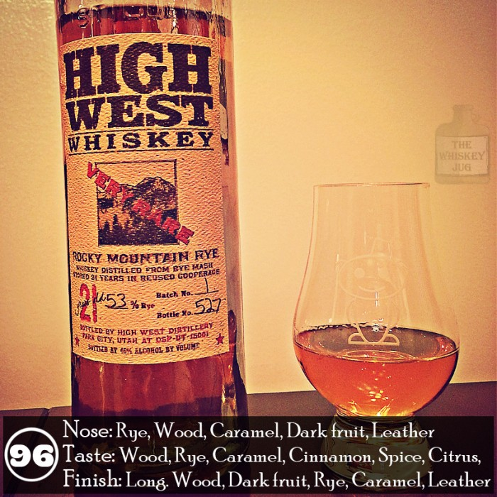 High West Rocky Mountain Rye 21 yr