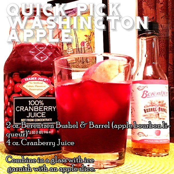 Quick Pick Washington Apple Cocktail