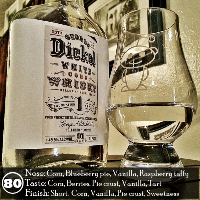 Dickel No 1 Corn White Whiskey Review