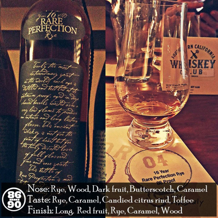 Rare Perfection 16 yr Rye Review