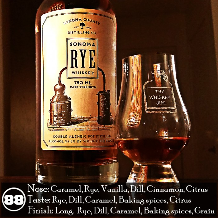 Sonoma Cask Strength Rye Whiskey Review