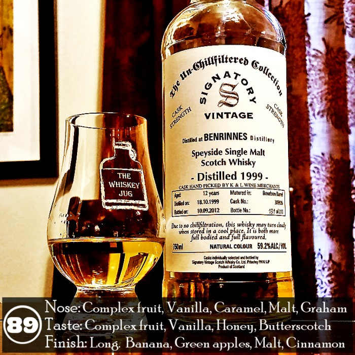 Benrinnes 1999 Signatory Vintage 12 years Review