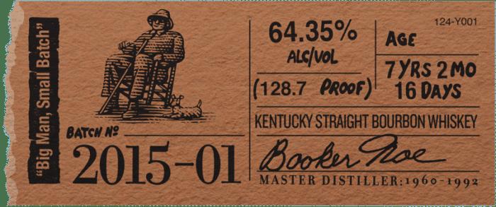 Booker's Bourbon 2015 Big Man Small Batch