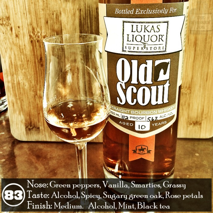 Old Scout Bourbon 10 years Review – Bottled for Lukas liquor