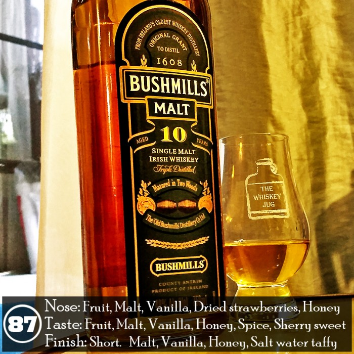 Bushmills 16 Year Single Malt Irish Whiskey Review - Drink ...