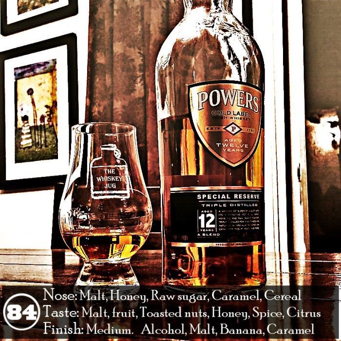 Powers Gold Label 12 yr Special Reserve Review