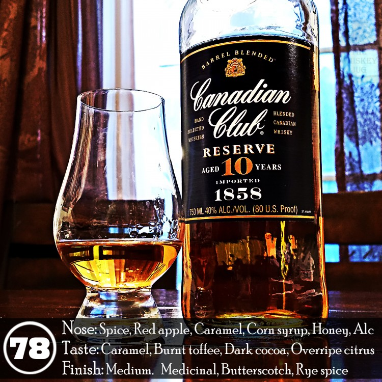 Canadian Club Reserve 10 yrs Review