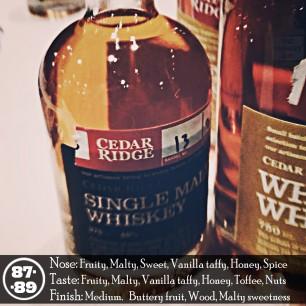 Cedar Ridge Single Malt Review
