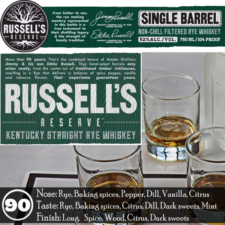 Russell's Reserve Rye Single Barrel Review