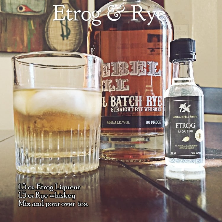 Etrog and Rye Cocktail
