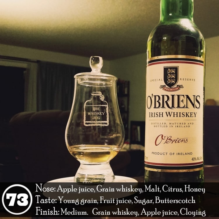 O'Briens Irish Whiskey Review