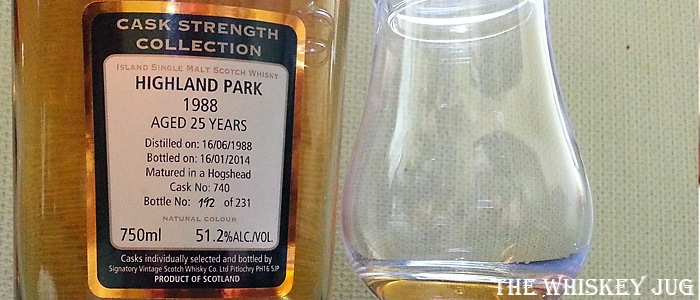 1988 Highland Park 25 years Signatory Vintage Label