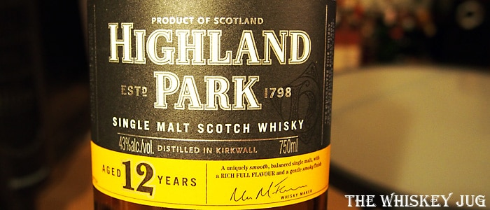 Highland Park 12 years Label