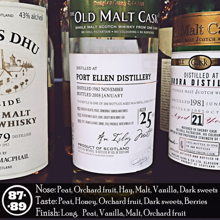 Port Ellen 25 years Old Malt Cask Review (1982 - 2008)