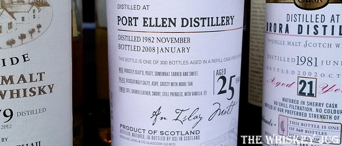 Port Ellen 25 years Old Malt Cask label (1982 - 2008)