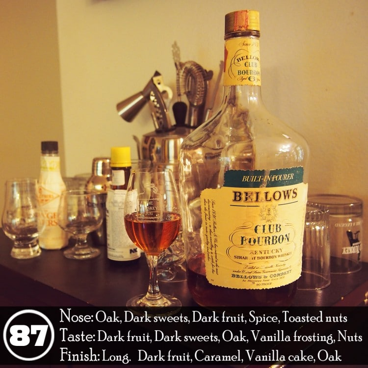 1970s Bellows Club Bourbon 6 years review