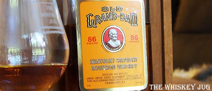 1980s Old Grand-Dad 86 proof Label