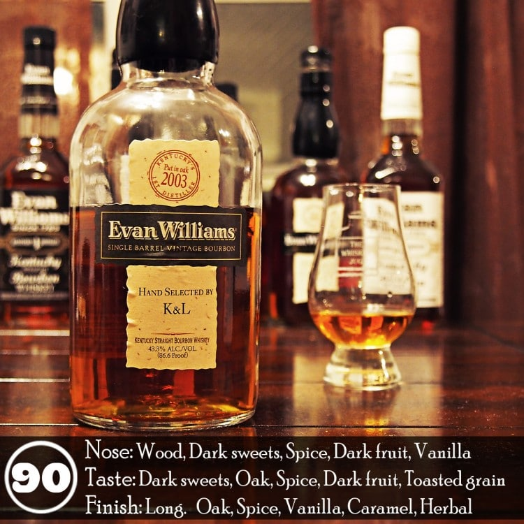 Evan Williams Single Barrel Vintage 2003 Review