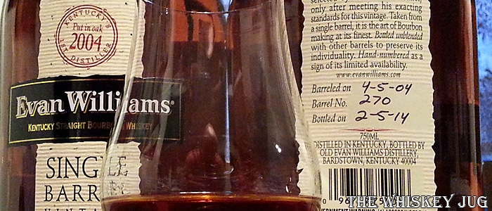 Evan Williams Single Barrel Vintage 2004 Label- 270