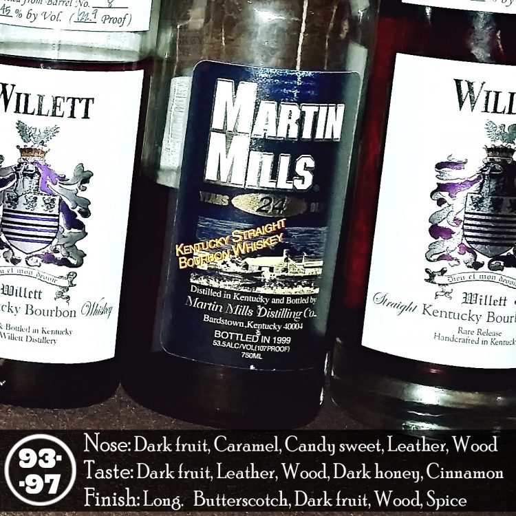 Martin Mills 24 years Bourbon Review