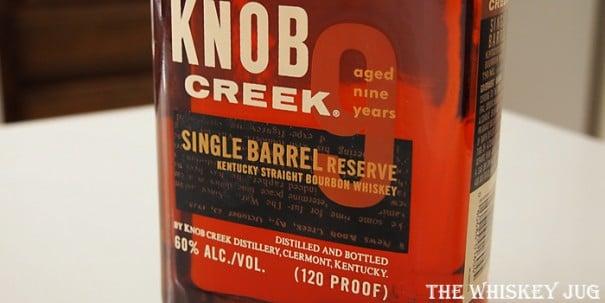Knob Creek Single Barrel Reserve Label