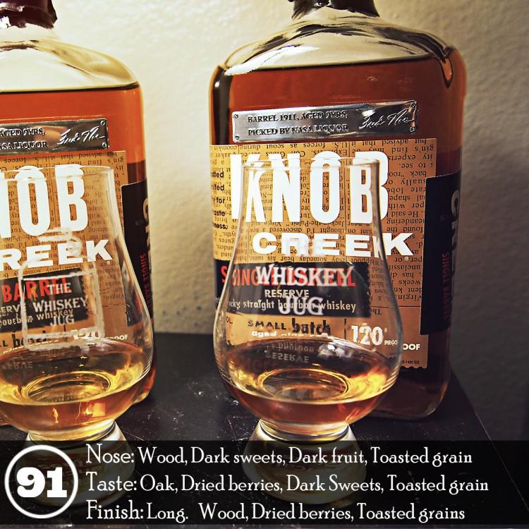 Knob Creek Single Barrel Review - Barrel 1911 for NASA Liquor