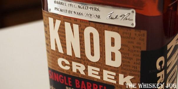 Knob Creek Single Barrel Review - Barrel 1911 for NASA Liquor Label