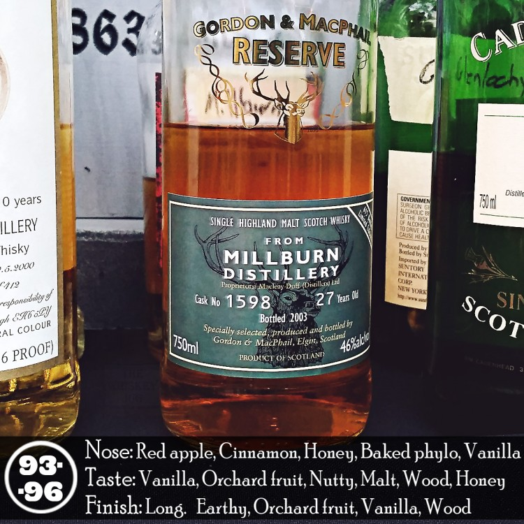 Millburn 27 Years Gordon & Machphail Review