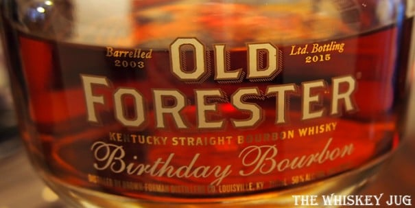 2015 Old Forester Birthday Bourbon Label