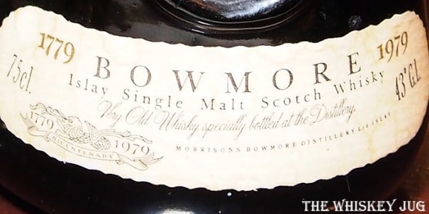 Bowmore Bicentenary Label