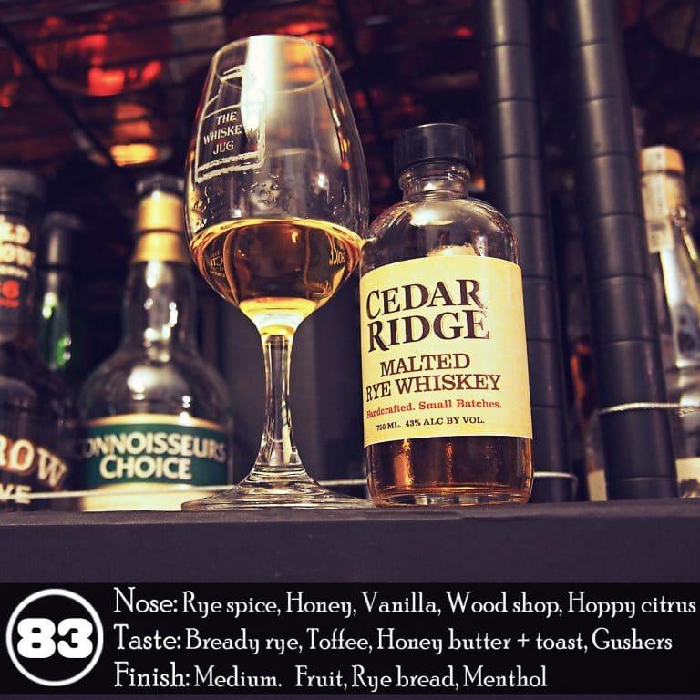 Cedar Ridge Malted Rye Whiskey Review The Whiskey Jug