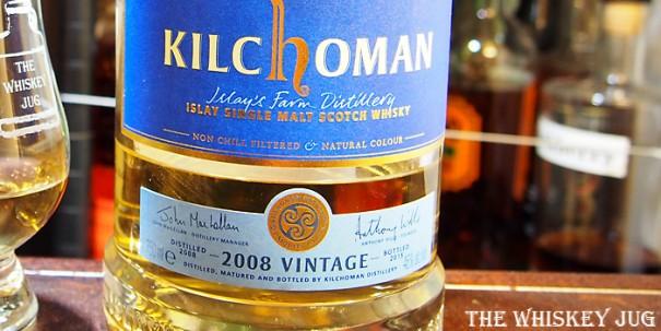 Kilchoman 2008 Vintage Label