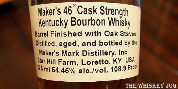 Maker's Mark 46 Cask Strength Label