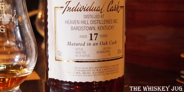 Cadenhead's Heaven Hill Bourbon 17 Years Label