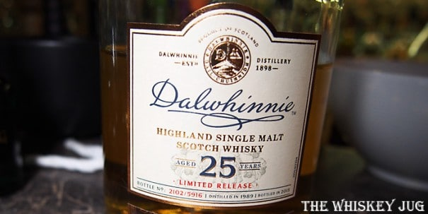 Dalwhinnie 25 Years Label