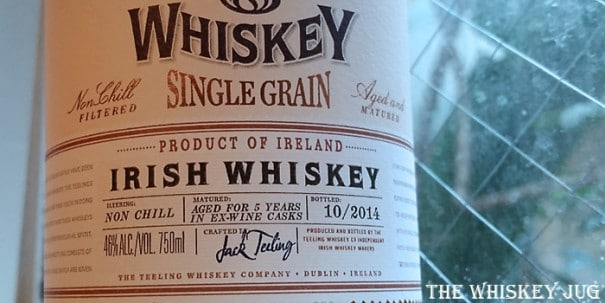Teeling Single Grain Irish Whiskey Label