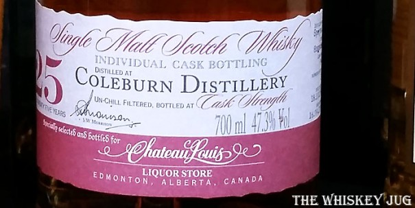 1983 A.D. Rattray Coleburn 25 years Label