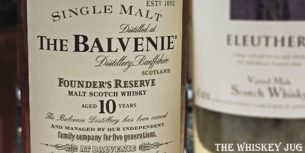 Balvenie Founder's Reserve 10 Years Label