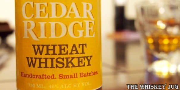 Cedar Ridge Wheat Whiskey Label