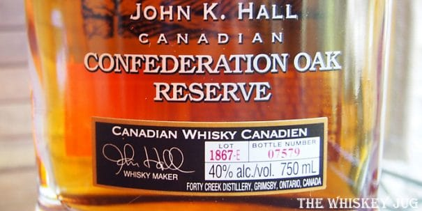 Forty Creek Confederation Oak Label