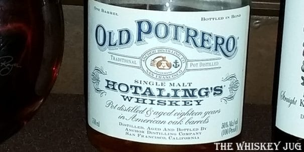 Old Potrero 18 Year Old Single Malt Hotaling's Whiskey Label