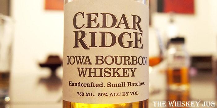 Cedar Ridge Iowa Bourbon Label