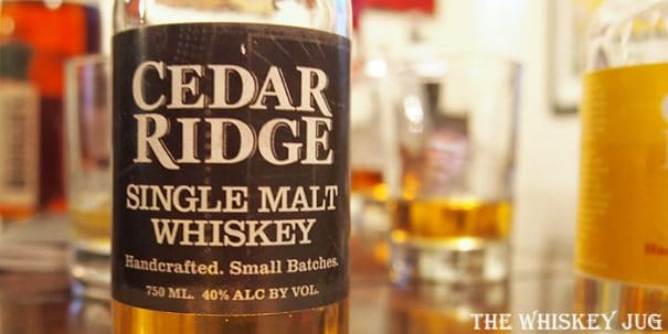 Cedar Ridge Single Malt Whiskey Label